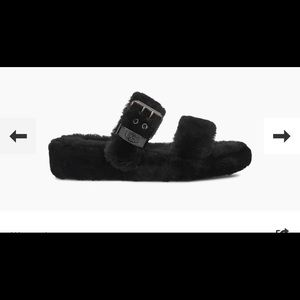 NWT UGG Fuzz Yeah Black Slipper Limited Sz 8